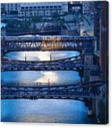 Chicago River First Light Canvas Print