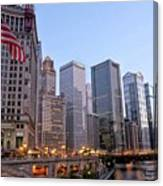 Chicago River From The Michigan Avenue Bridge Canvas Print