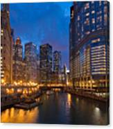 Chicago River Lights Canvas Print