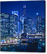 Chicago River Panorama Canvas Print