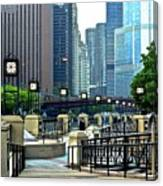 Chicago River Walk Invites You Canvas Print