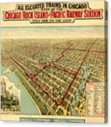Chicago Rock Island And Pacific Railway Station Canvas Print