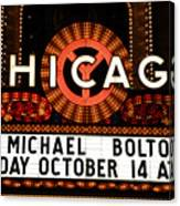 Chicago Sign - Chicago Theater Canvas Print