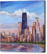 Chicago Skyline - John Hancock Tower Canvas Print
