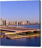 Chicago Skyline, Filtration Plant Canvas Print