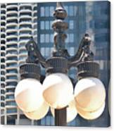 Chicago Street Lamps Canvas Print