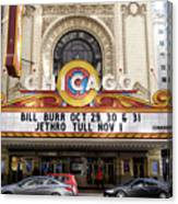 Chicago Theater Marquee Jethro Tull Signage Canvas Print