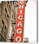 Chicago Theater Sign Marquee Canvas Print