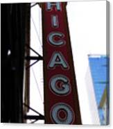 Chicago Theater Sign Canvas Print