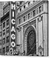 Chicago Theatre Bw Canvas Print