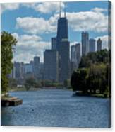 Chicago - View From Lincoln Park Lagoon Canvas Print