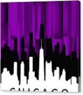 Chicago Violet Vertical  Canvas Print