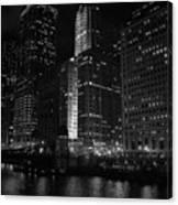 Chicago Wacker Drive Night Canvas Print