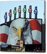 Chicago White Sox Usa Eagle Scoreboard Canvas Print