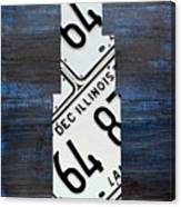 Chicago Windy City Harris Sears Tower License Plate Art Canvas Print