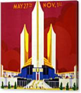 Chicago, World's Fair, Vintage Travel Poster Canvas Print