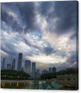 Chicago's Buckingham Fountain When It's Turned Off Canvas Print