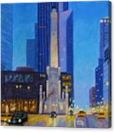 Chicago's Water Tower At Dusk Canvas Print