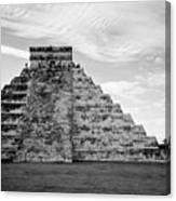 Chichen Itza B-w Canvas Print