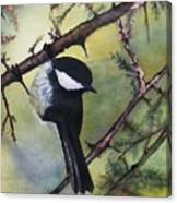 Chickadee Autumn Canvas Print
