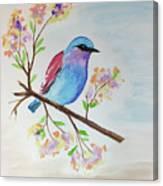 Chickadee On A Branch Canvas Print