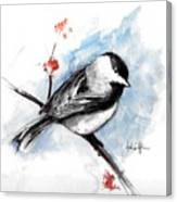 Chickadee Spring Canvas Print