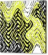 Chicken Scratch Abstract Canvas Print