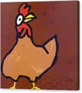 chicken Scratch Canvas Print