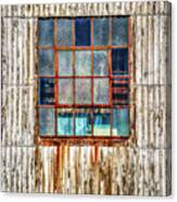 Chicken Wire Window Canvas Print