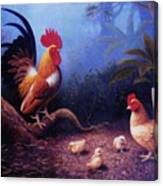 Chickens And The Fogs Canvas Print
