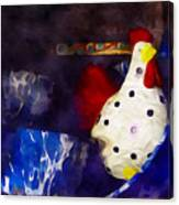 Chickens In The Kitchen Canvas Print