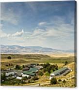 Chico Hot Springs Pray Montana Panoramic Canvas Print
