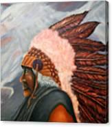 Chief Eagle Cloud Canvas Print