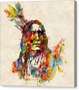 Chief Mojo Watercolor Canvas Print