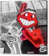 Chief Wahoo Sluggin Canvas Print