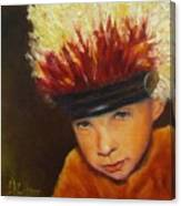 Chief Wannabee #2, Native American Indian Child   Canvas Print