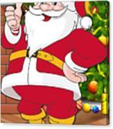 Chiefs Santa Claus Canvas Print