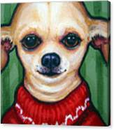 Chihuahua In Red Sweater - Boss Dog Canvas Print