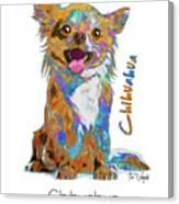 Chihuahua Pop Art Canvas Print