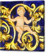 Child In Blue And Gold Canvas Print