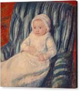 Child On A Sofa Canvas Print