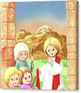 Child Shepherds Canvas Print