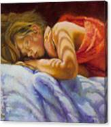 Child Sleeping Print Wall Art Room Decor Canvas Print