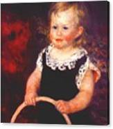 Child With A Hoop Canvas Print
