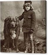 Child With Dog, C1885 Canvas Print