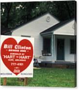 Childhood Home Of Bill Clinton Canvas Print