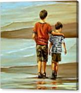 Childhood Shore Canvas Print