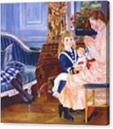 Children Afternoon At Wargemont Marguerite 1884 Canvas Print