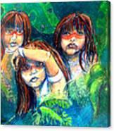 Children Of The Jungle Canvas Print
