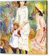 Children On The Seashore 1883 Canvas Print